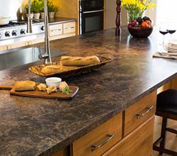 Arborite countertop in kitchen